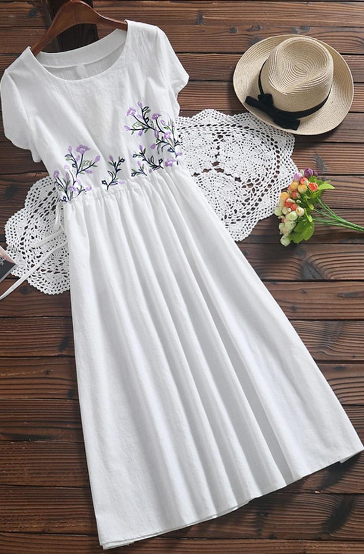 Белое Хб Платье